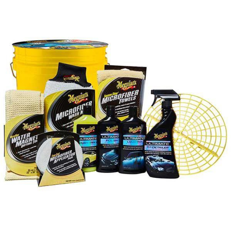 meguiars 12pc ultimate polish wax bucket kit bodywork. Black Bedroom Furniture Sets. Home Design Ideas