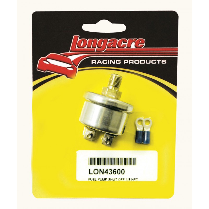Longacre low oil pressure electric fuel pump safety shut for Motor oil fire starter