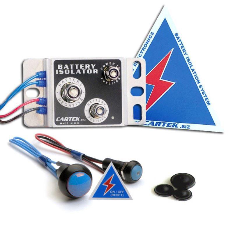 Cartek Battery Isolator Kit With Blue External Button
