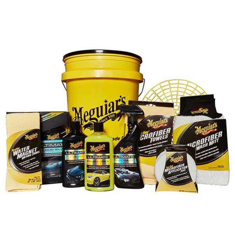 Meguiars Ultimate Polish Amp Wax Bucket Kit Bodywork Preparation Cleaners Car Care