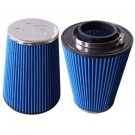 Jetex Universal Cone Air Filter 70mm Neck Chrome Cap
