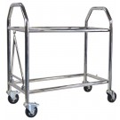 B-G Racing Stainless Steel Low Level Wheel & Tyre Trolley