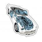 Haynes Classic MGB Car Air Freshener