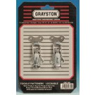 Grayston Small Lockable Toggle Fasteners, Pair