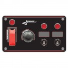 Longacre Flip-up Start / Ignition Panel With 2 x Accessory Switches & Pilot Lights